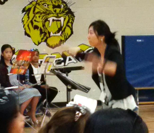 silvia conducting the summer band concert at garden city elementary - Garden City Elementary School