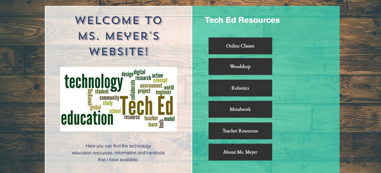 Ms. Meyer's Technology Education Resources Website